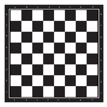 tablero de ajedrez: Tablero de ajedrez modelo abstracto blanco y negro aislado fondo blanco