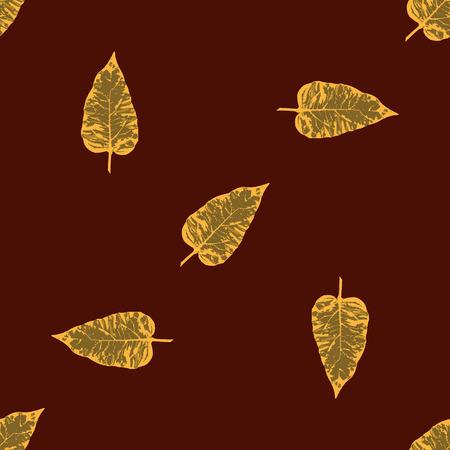 burgundy background: autumn leaves grunge style dark burgundy background creative abstract modern vector pattern