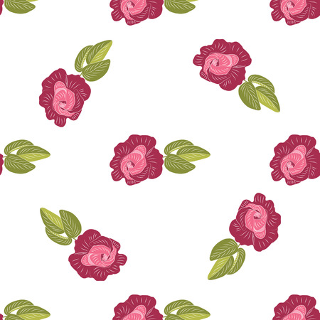 Rose claret handmade on white background vector art abstract creative pattern