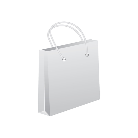 unprinted: Empty shopping bag isolated on white background . mock up. layout for advertising design
