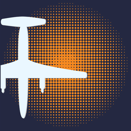 plane silhouette abstract dark blue background for a tourist poster vector design Illustration