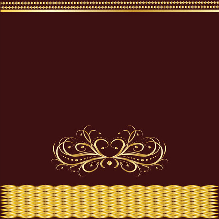 Gold Art dividers on burgundy background can be changed to any of the art design illustration creative vector