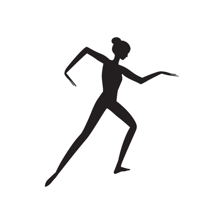 sketch of a woman sporting dance isolated on white background art creative vector element for design
