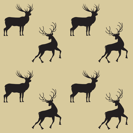 Patroon twee herten op een lichte achtergrond - kunst abstract creatieve moderne vector illustratie