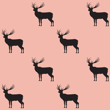 Deer pattern on light background - art abstract creative modern vector illustration