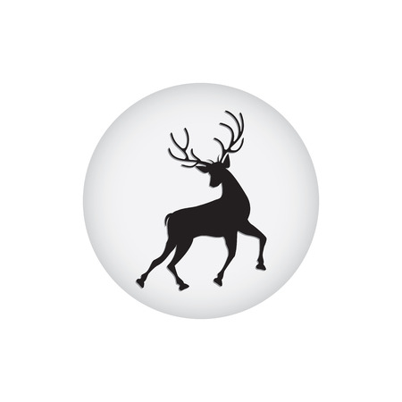 Icon of a running deer isolated on white background - art abstract creative modern vector