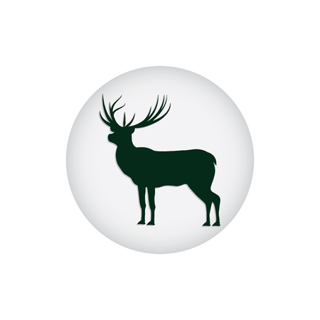 Deer logo isolated on white background - art abstract creative modern vector