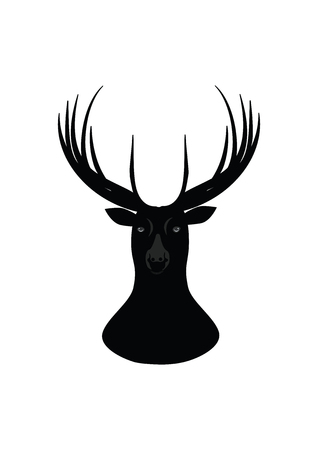 head of a deer - sketch-isolated on white background - art creative vector Illustration