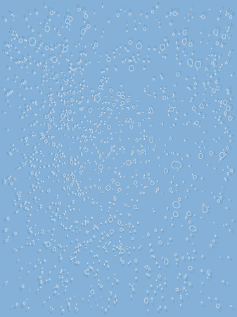 Blue abstract background - small splashes - vector
