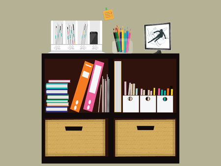 Charmant Interior Home Office Management, Small Cabinet For Business Papers And  Office Supplies Cabinet. Art