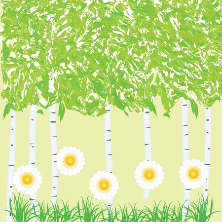 Gentle spring background illustration. Illusztráció