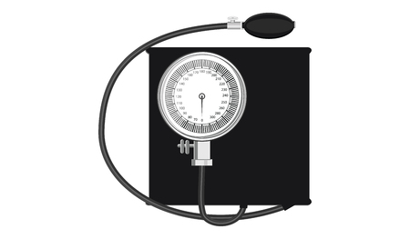 Tonometer Mechanical for measuring blood pressure - isolated on white background - art vector