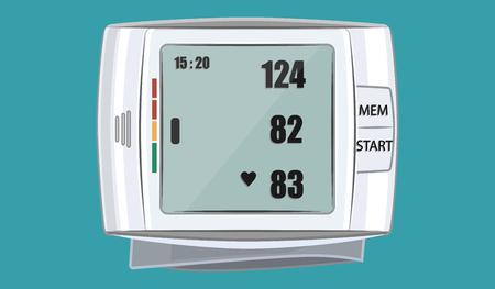 Tonometer medical on wrist - isolated - flat style - art vector