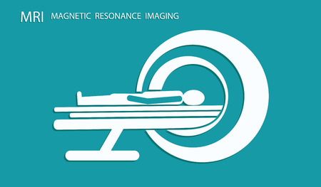 Icon-Scanning Patient with Machine MRI - Flat Style - Vector illustration Vecteurs