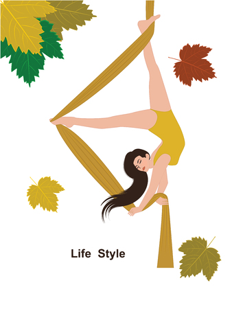 564171d1 153 Aerial Yoga Stock Vector Illustration And Royalty Free Aerial ...