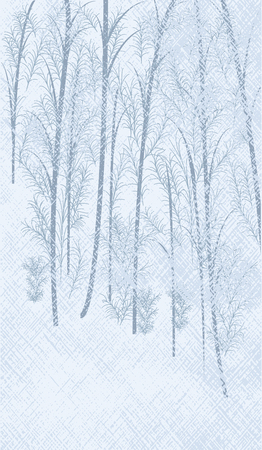 Winter abstract light background - snowy forest - vector art illustration.