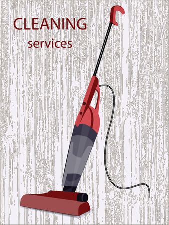 The washing vacuum cleaner with the long handle - under a tree Illustration