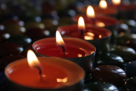 cosiness: Candles Stock Photo