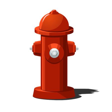 illustratie van de brandkraan. Effen opvulling alleen. Vector Illustratie
