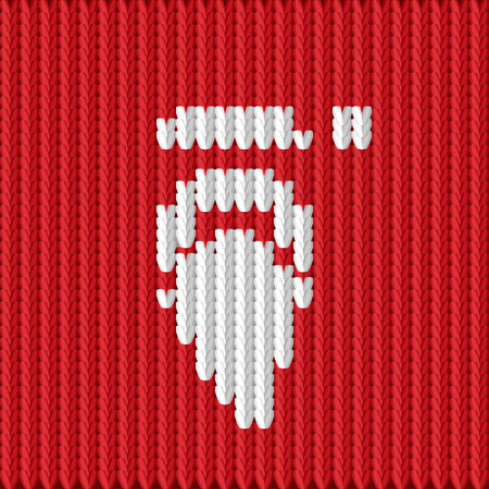 Vector illustration of a knitted Santa Claus Vector