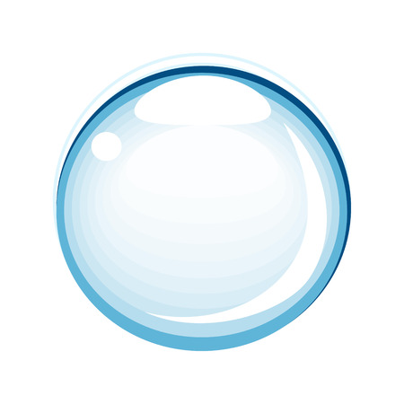 Vector illustration of a single bubble on white.  イラスト・ベクター素材