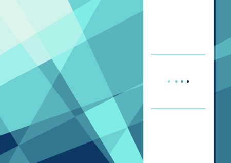 celadon: Vector illustration of polygonal flyer design template. Stylish blue crystal. Can be used as flyer, cover, business cards, envelope, and brochure background.