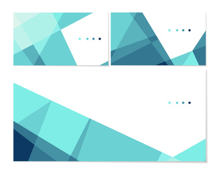 Vector set of business cards and envelope templates. Stylish turquoise crystal. Can be used as flyer, cover, business cards, envelope, and brochure background. Illustration