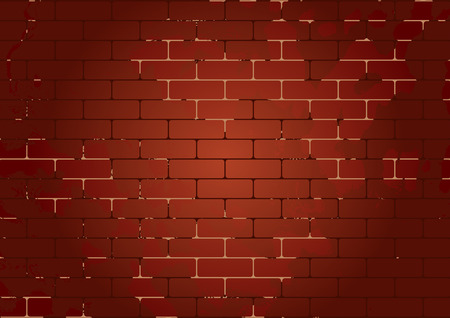 brickwork: Vector seamless brick texture. Can be used as flyer, cover, business cards, envelope, and brochure background. Illustration