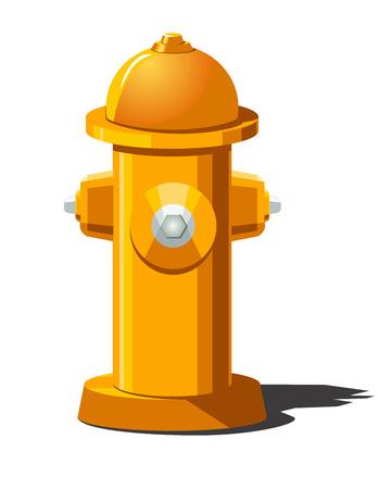 Ilustración vectorial de la boca de incendios. Se puede utilizar como icono para juegos y aplicaciones móviles.