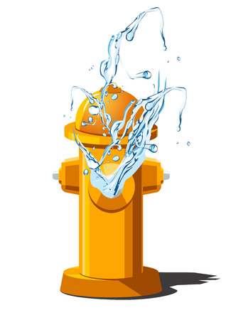 water can: Vector illustration of fire hydrant with splashing water. Can be used as icon  for games and mobile apps. Illustration