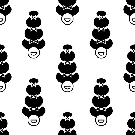 funny pictures: Vector seamless pattern with funny pictures. May be used for wedding decoration, cards, invitation, envelopes or some other romantic polygraphy.
