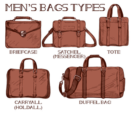 Vector – Vector illustration of mens bags types  briefcase c731198033c5f