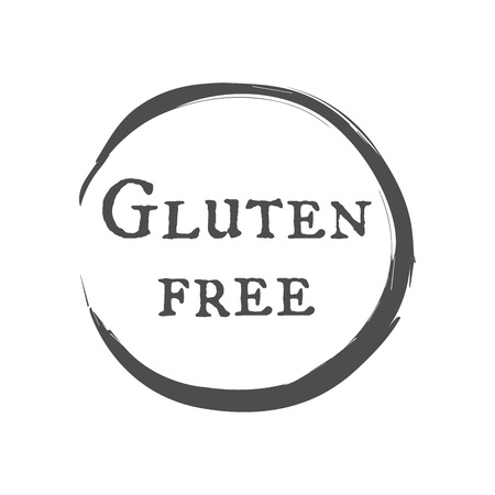 Vector quality label. Gluten free. Hand drawn vintage style drawing. Illusztráció