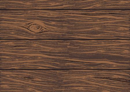 나무 오크 보드 색상 질감 배경 벡터 일러스트 레이 션. 손은 밝고 생생한 구호와 함께 자세한 거친 나무 표면을 그려.