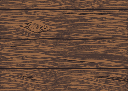 Vector illustration of a wooden oak boards color texture background. Hand drawn detailed rough wood surface with bright and vivid relief.