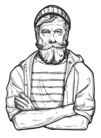 Vector illustration of a stylish man