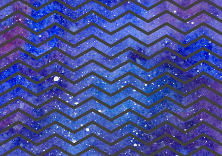 Waves pattern on space texture, abstract background. Geometrical simple illustration