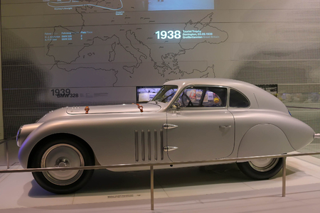 Munich, Germany - July 1, 2017: Classic car in the BMW Museum in Munich Standard-Bild - 110869991