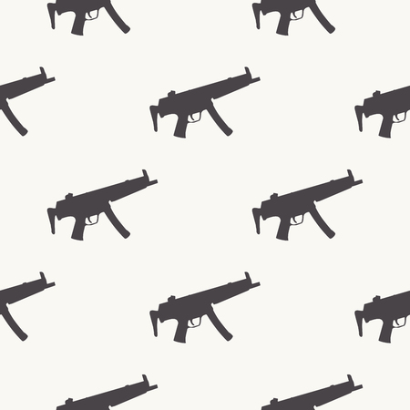 Machine guns pattern pattern on white background. Creative and military style illustration