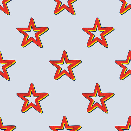 Retro stars pattern, abstract geometric background in 80s, 90s style. Geometrical simple illustration Illustration