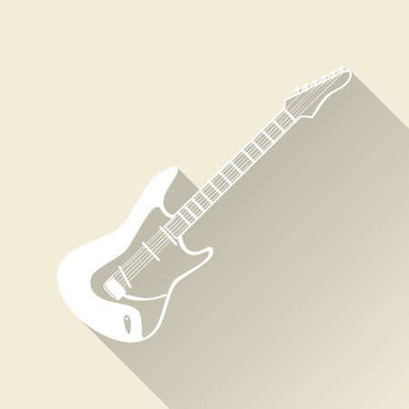 Guitar icon illustration, music pattern. Creative and luxury cover