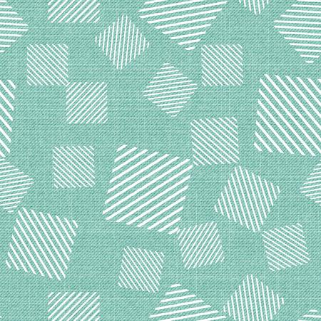 Square pattern on textile, abstract geometric background. Creative and luxury style illustration Vektorgrafik