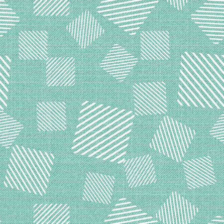 Square pattern on textile, abstract geometric background. Creative and luxury style illustration