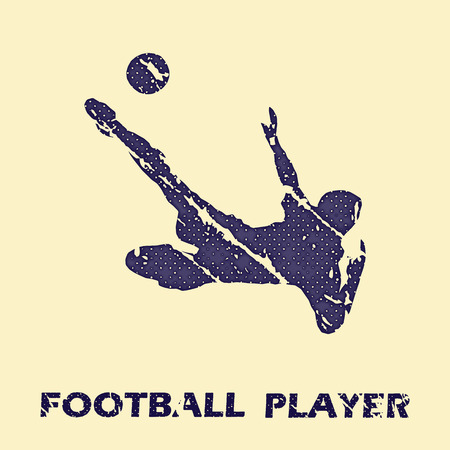 Football player illustration. Creative and sport style image Vectores
