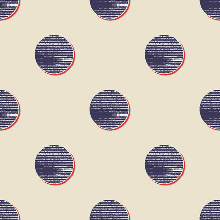 Retro dots pattern, abstract geometric background in 80s, 90s style. Geometrical simple illustration