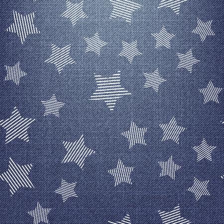 Patrón de estrellas en textil, fondo geométrico abstracto. Ilustración de estilo creativo y de lujo.