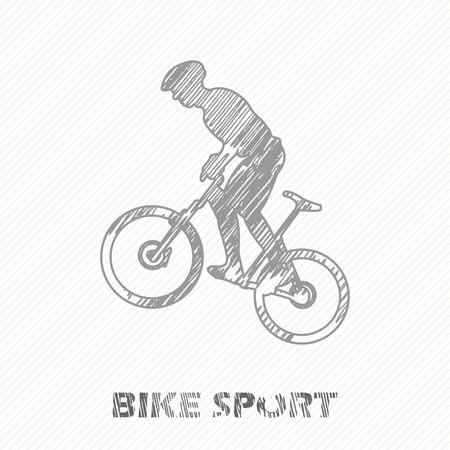 Bike and bikers man illustration. Creative and sport style image