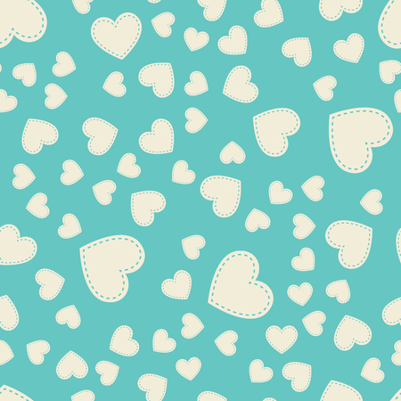 Random hearts pattern. Valentines day background for holiday template. Creative and luxury style illustration 矢量图像