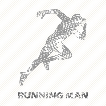Running man illustration. Creative and sport style image Illustration