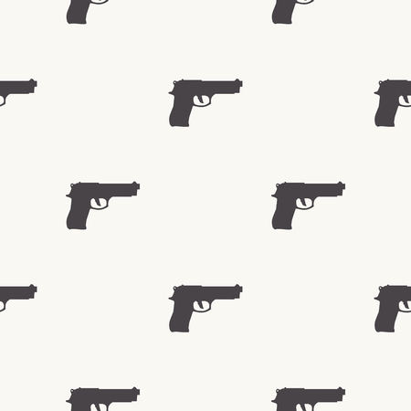 Guns pattern pattern on white background. Creative and military style illustration Ilustrace